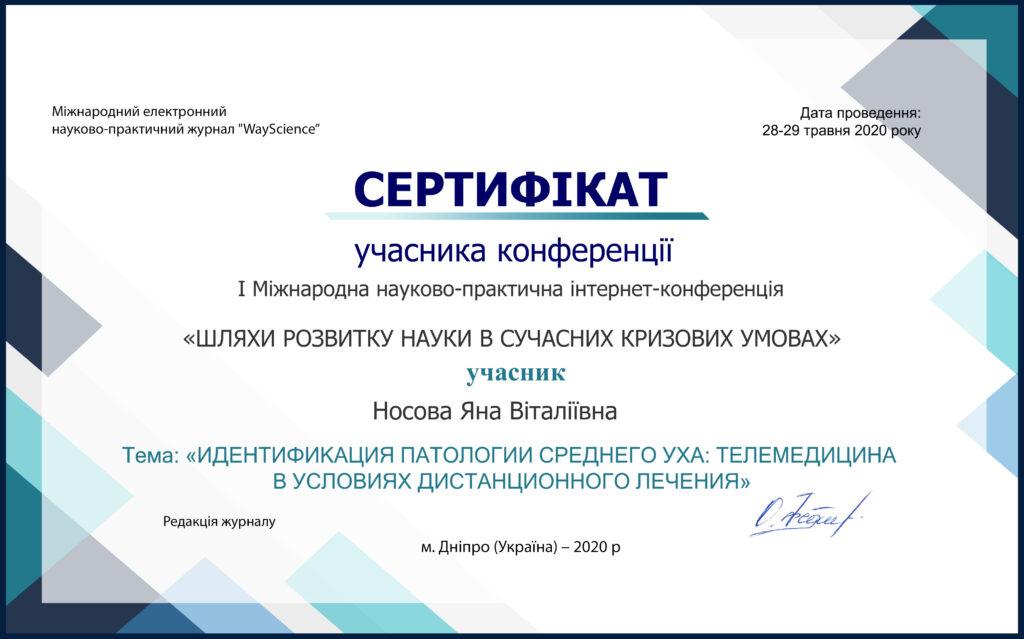 Носова Яна Віталіївна